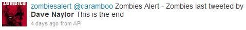 Dave Naylor Zombie Alert